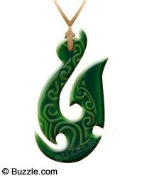 Hei Matau means a 'fish hook' in Maori. The Maori people are primarily fishermen and the fish hook symbolizes prosperity, abundance, health and a good luck charm for safe travel over the seas, while also accentuating the close connection of the Maori with sea and fishing. It also represents the land of the Maori.