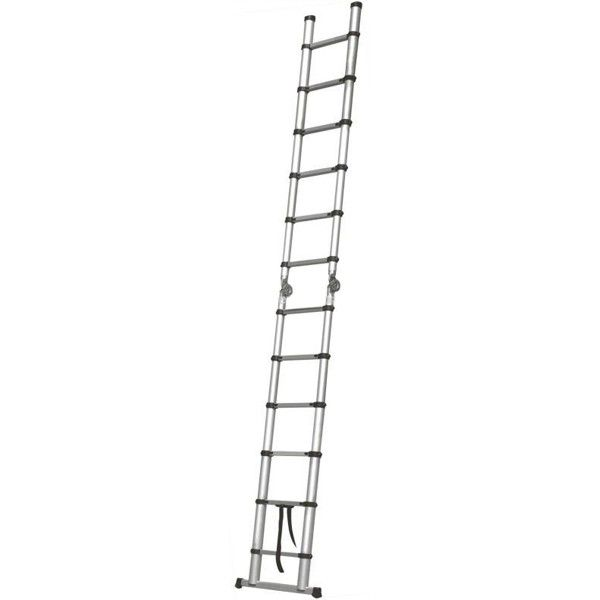 escalera telescópica de aluminio 3.8 mts . doble acceso (estirada) #escalera #aluminio http://godirectaccess.es/escaleras/escalera-telescopica-3-8metros-doble-acceso.html