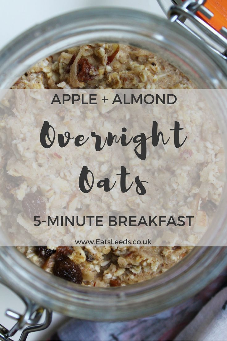 Apple and Almond Overnight Oats are an energy-boosting wonder breakfast! with organic, raw almond butter, this recipe is a delicious gluten free breakfast. Get the recipe here!