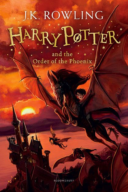 'Harry Potter and the Order of the Phoenix' - new Bloomsbury cover by Jonny Duddle