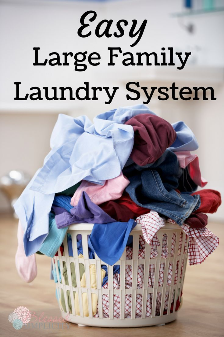 Best 25 large family organization ideas on pinterest for Large family laundry