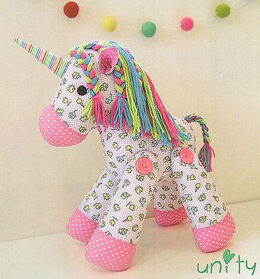 Patrón de Costura Artesanía Unity Unicornio - - juguete suave fieltro Muñeca De Trapo Caballo Pony