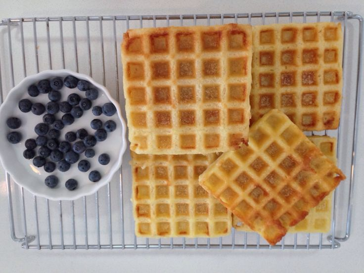 Crispy waffles with sparkling mineral water: http://forkandkniv.com/crispy-waffles/