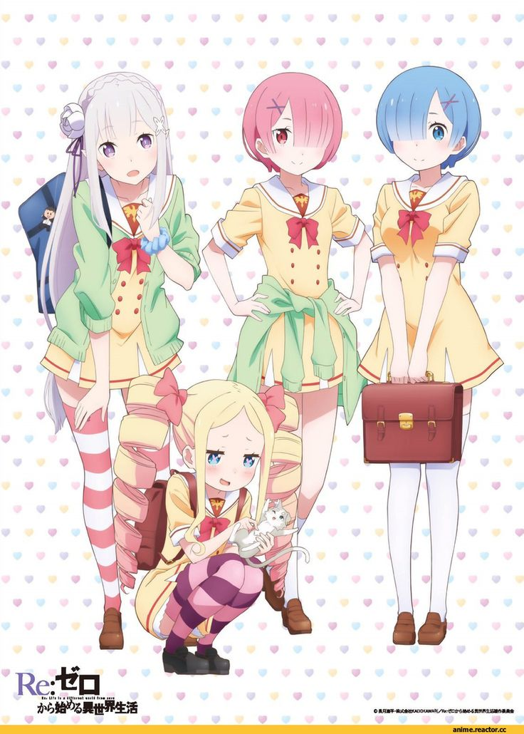 Anime,Аниме,Re Zero Kara Hajimeru Isekai Seikatsu,rem (re zero),ram (re…