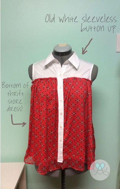 Shirt + Dress Refashion {Lovera Loft}