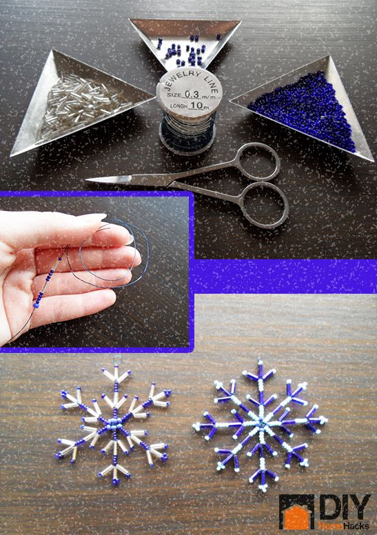 How to Make a Snowflake Out of Beads and Wire (Tutorial) | DIY Home Hacks