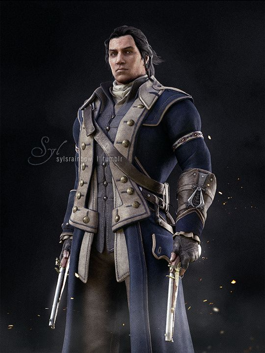 Connor Kenway in his naval uniform (by sylsrainbow)