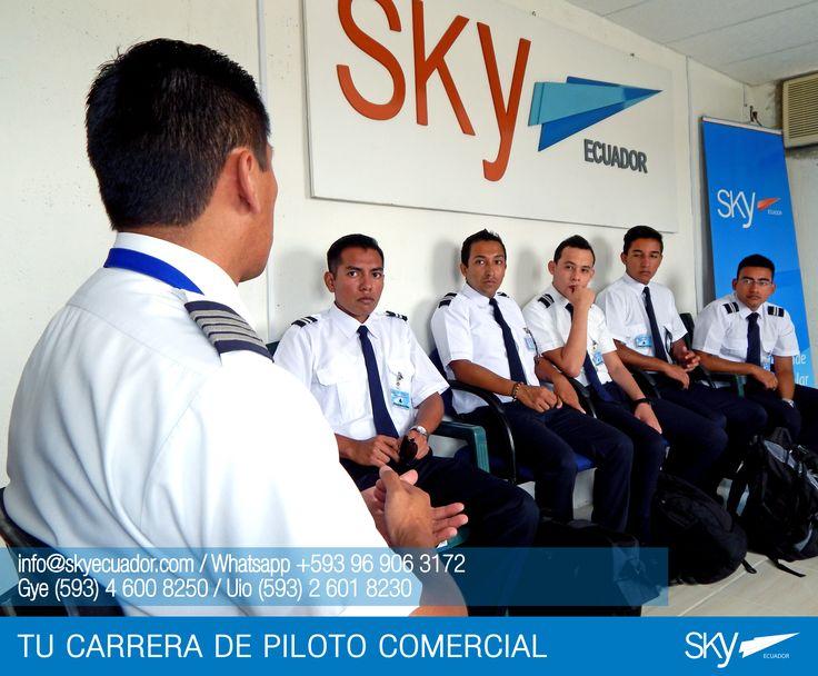 Listos parar su etapa de vuelo.  Fórmate como Piloto Comercial en #Ecuador !  Siguiente curso: #Quito - FEBRERO / MATRICULAS ABIERTAS #Guayaquil - FEBRERO / MATRICULAS ABIERTAS  Para mayor información escríbenos a: info@skyecuador.com o mensajes WhatsApp 096 906 3172 Teléfonos:  02 601-8230 #Quito  04 600 8250 #Guayaquil