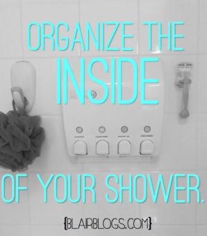 How to Organize the INSIDE of Your Shower