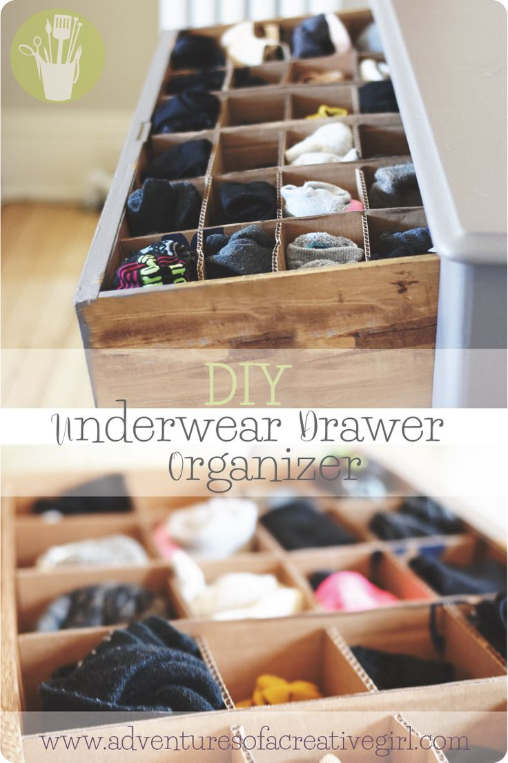 Organize your undies with this simple DIY project! Your underwear drawer will never be the same again!