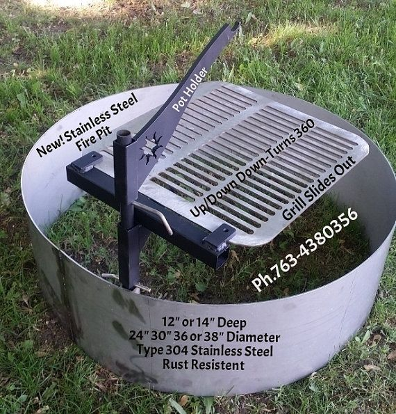 30 Diameter x 14 Deep x 10 Ga Type 304 Stainless Steel Fire Pit Ring Liner-Insert. NO RUST FIRE PIT RING ONLY FOR SALE! DOSE NOT INCLUDE GRILL