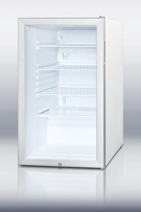 """Summit SCR450L7 20"""" Commercially Listed Compact Refrigerator With 4.1 cu. ft. Capacity Glass Door Factory Installed Lock Automatic Defrost and Interior Light in Stainless -- Check out the image by visiting the link. #CompactRefrigerators"""