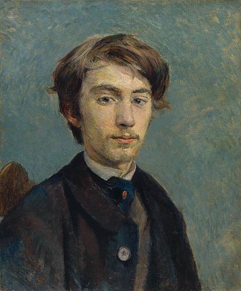 Henri de Toulouse-Lautrec (French ,1864-1901) Portrait Of Émile Bernard, 1885. Анри де Тулуз-Лотрека (французский, 1864-1901) Портрет Эмиля Бернара, 1885 г., 亨利·德图卢兹 - 劳特克(法语,1864-1901)肖像Émile Bernard, 1885.