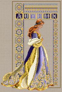Lavender & Lace Celtic Autumn Kit on Taupe Linen