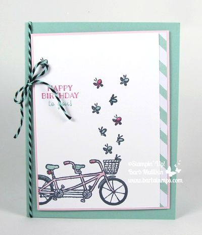 NEW - Sale-a-bration item - Pedal Pusher - Barbstamps!! Barb Mullikin Stampin' Up! Demonstrator