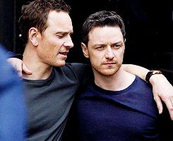 "yoursmcavoy: "" McAvoy & Fassbender ""and yet, I just love the guy. "" """