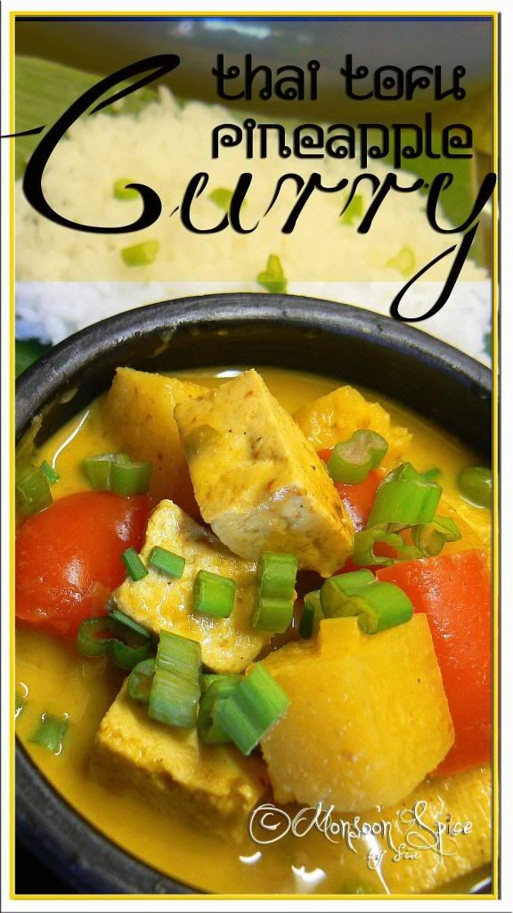 Tofu & pineapple yellow curry