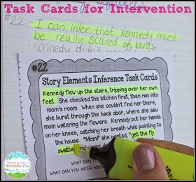 Task cards for on-grade-level reading skills