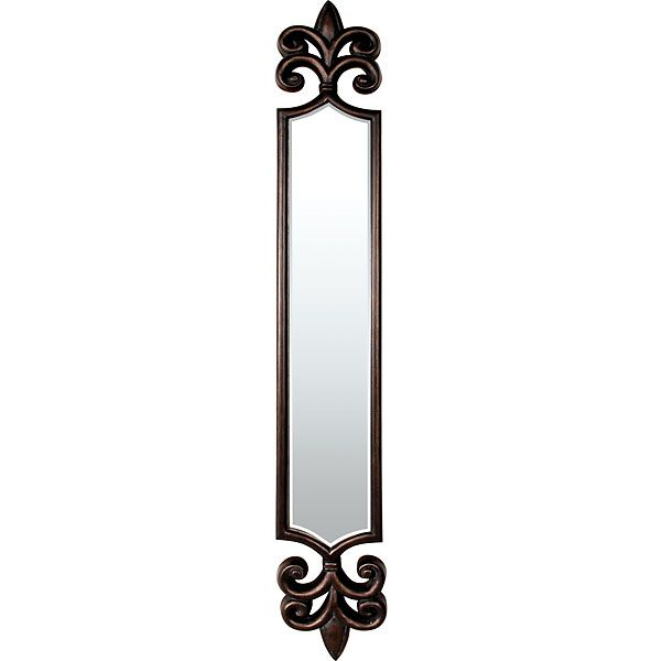 Long skinny mirrirs metal framed arched mirror w doors for Long framed mirror