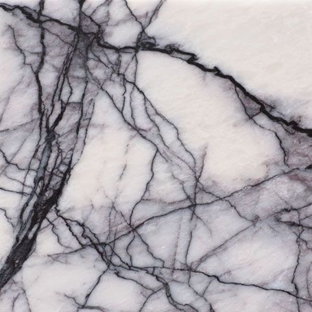 What we currently have in kitchen - Honed Violeta marble by Agora Surfaces, White  marble with strong, black-purple, hairline veining and light greyish ...