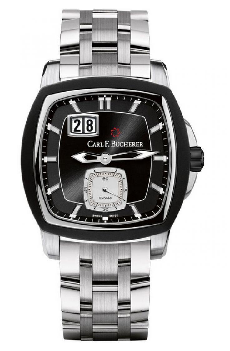 Carl F. Bucherer 00.10628.13.33.21 Patravi EvoTec BigDate - швейцарские мужские часы наручные, стальные, черные