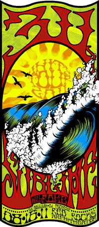311 / Sublime... Classic heavy metal rock psychedelic music poster  ☮~ღ~*~*✿⊱  レ o √ 乇 !! ~