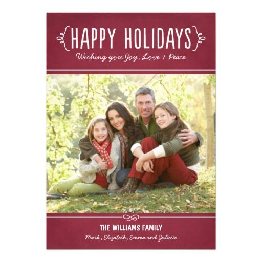 Happy Holidays Wishing You Joy Love Peace Photo Cards