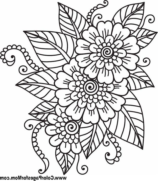 Coloring Pages For Adults Flowers 3jlp Adult Flower Coloring Pages