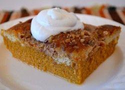 Gluten Free pumpkin dessert with coconut milk whipped cream.  Must try!