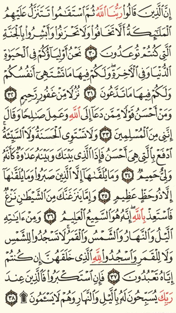 سورة فصلت الجزء الرابع والعشرون الصفحة 480 Quran Verses Verses Math