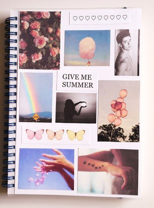 Collage Style Book Cover ~ Best notebook collage ideas on pinterest