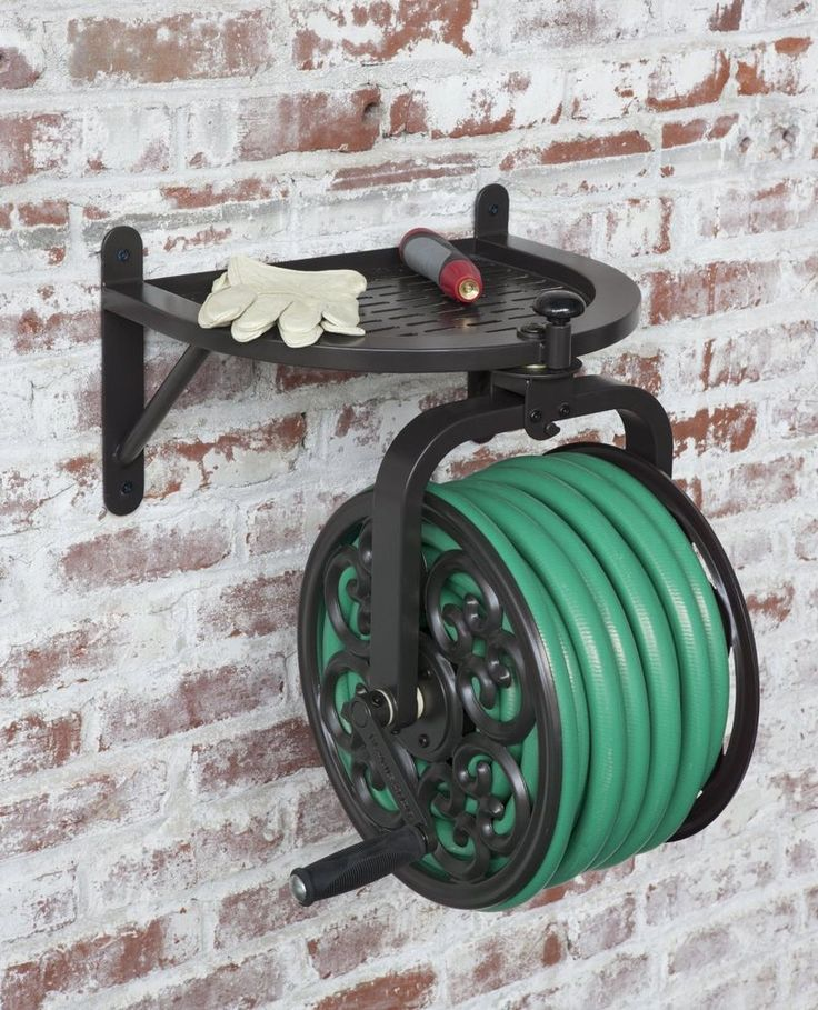 Liberty Garden Swivel Wall Mount Rotating Garden Yard Deck Patio Water Hose Reel #LibertyGarden #Garden #Wall #Hose #Reel