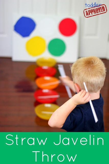 Toddler Approved!: Kid Bloggers Go Olympics: Straw Javelin Throw