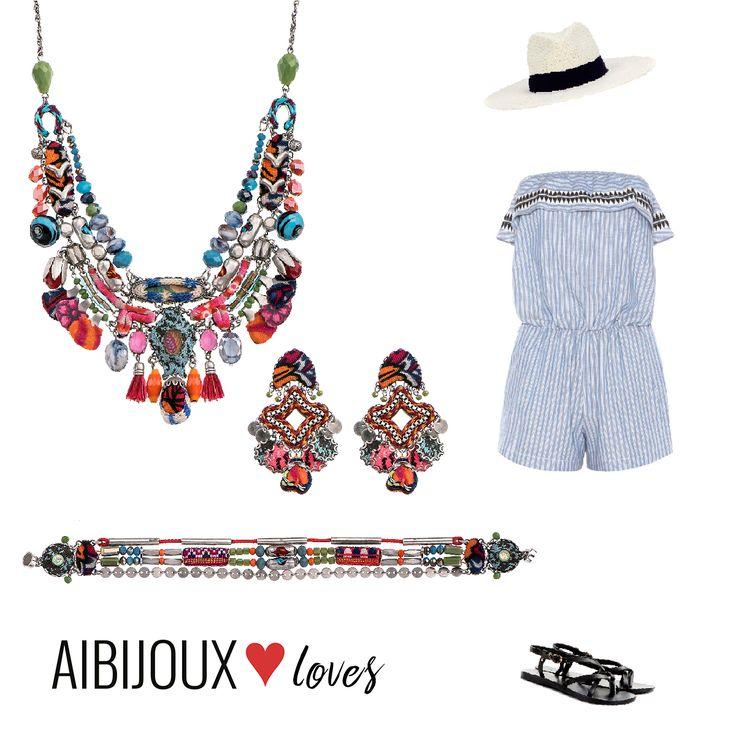 Outfit estivo con la meravigliosa collezione di Ayala Bar. #AIBIJOUXloves #AyalaBar #ilnostrooutfit #gioiellidautore #lemlem #ancientgreek