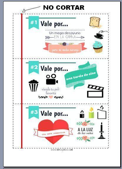 Talonario de San Valentín para imprimir | Aprender manualidades es facilisimo.com
