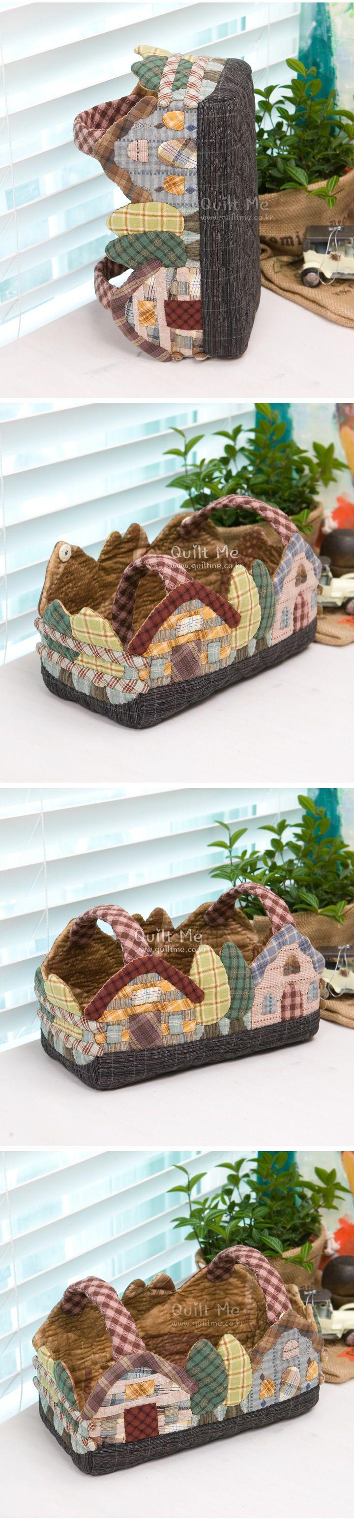 Houses basket-shaped tissue case |   퀼트미 [★선착순세일!-하우스 바스켓모양 티슈케이스]
