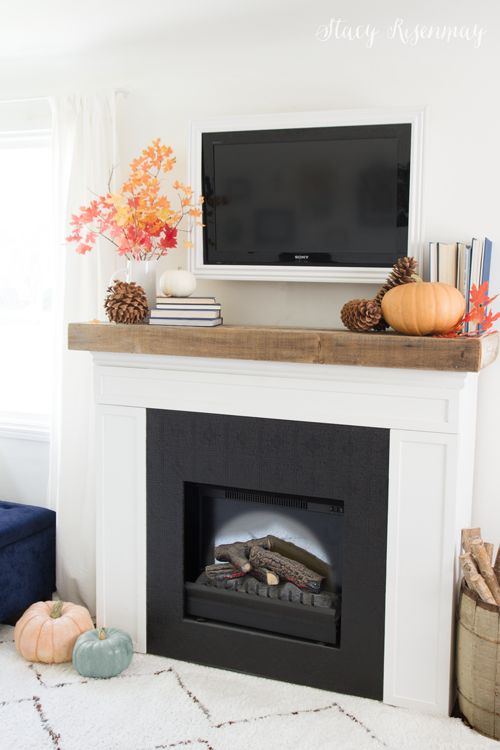 blogger fall home tour stacy risenmay diy fireplace