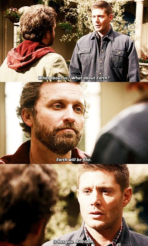 Chuck believes in the Winchesters so much. He trusts them with his most important creation. Idk why tho cuz, like, those bitches keep fucking it up.....