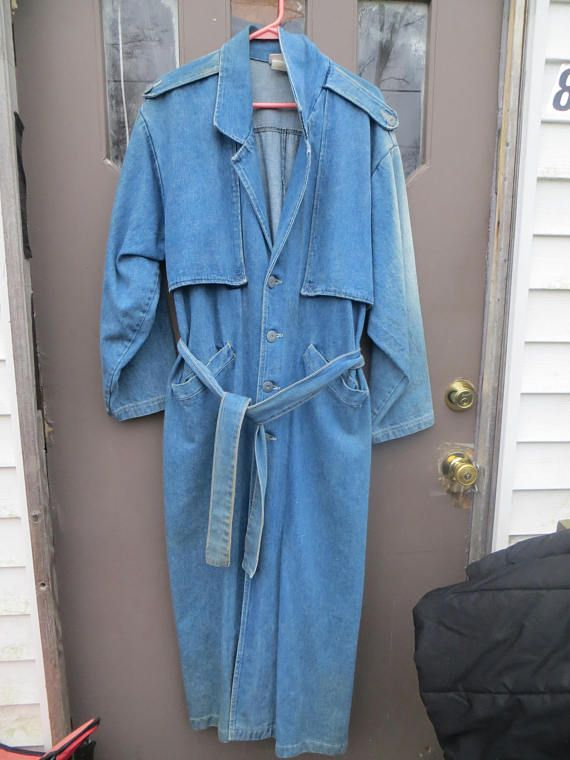 Your Place To Buy And Sell All Things Handmade Long Denim Coat Denim Coat Denim Western