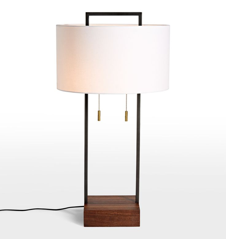 Dixon Tall Table Lamp - Drum Shade | Rejuvenation