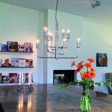 Modern chromed chandelier  Random by Katarina Dahl