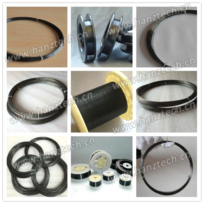 Tungsten Wire Including Black Tungsten Wire, Cleanded Tungsten Wire, Rhenium Tungsten Wire,Gold Plated Tungsten Wire, Stranded Tungsten Wire, etc. Application: For producing electric light source parts and electric vaccum components For producing heating elements and refractory parts in high temperature furnaces For producing heating elements used in vaccum metalizing or plating.