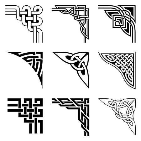 Set von Zier-Ecken in der keltischen Art