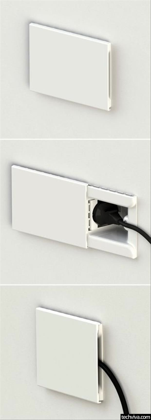 1000 images about hide electrical cords on pinterest for How to hide electrical cords on wall