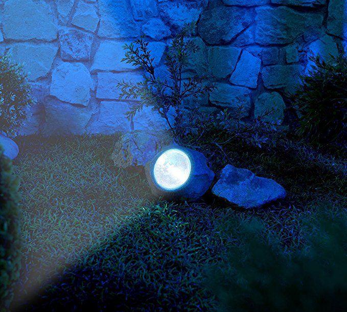 Royal Gardineer Solarstein Solar Led Gartenlicht In Stein Optik Wechselbarer Akku 5 Lumen Ip44 Solar Solarleuchten Garten Solarleuchten Solarlampen Garten