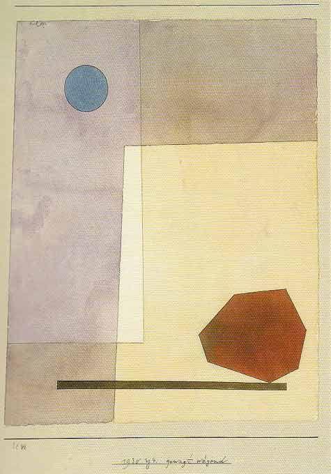 Paul Klee: gewagt wägend Aquarell und Feder auf Papier auf Karton, 1930. (31 x 24,5/23,5) Zentrum Paul Klee, Bern