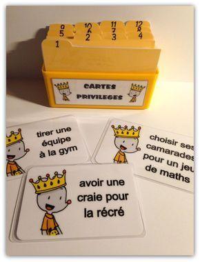 Cartes privilèges version Ludo - Chez maîtresse Ecline