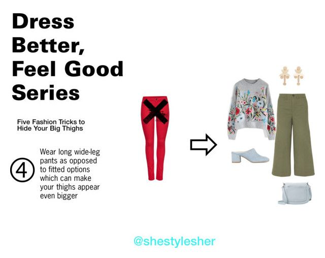 """""""Dress Better, Feel Good Series: 5 Fashion Tricks to Hide Your Big Thighs"""" by shestylesher on Polyvore featuring M&Co, Chicwish, Kenneth Cole, Marc Jacobs, Madewell and MANGO"""