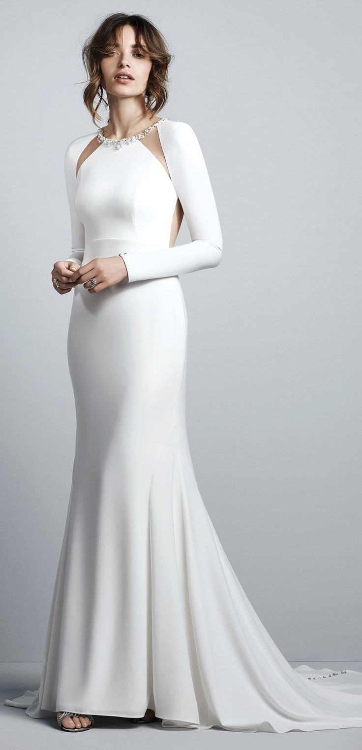 Sleeves and illusion and crepe! Sottero and Midgley Wedding Dress Arleigh