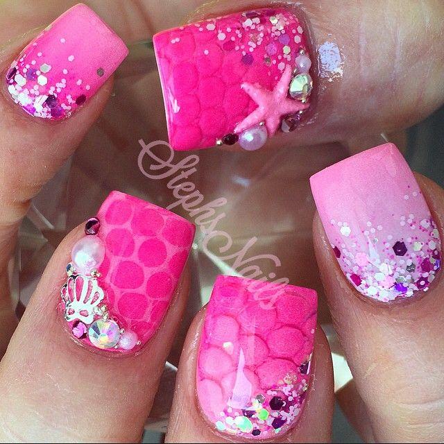 Stephanie Rochester @_stephsnails_ PinkMermaid #ar...Instagram photo | Websta (Webstagram)